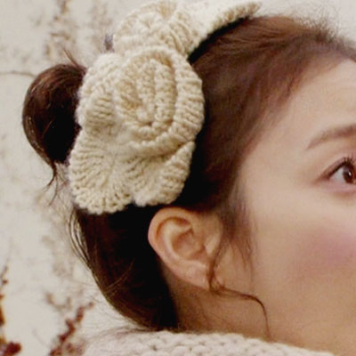 "Korea Drama | Shop ""My Princess"" stock of long-awaited Contact Kim Tae Hee knit Flower Headband! !"