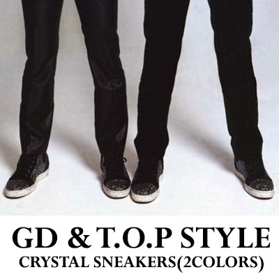 [25.5~27.5cm]★ discount ★ GD & TOP Fashion ★ cubic full sneakers / Knock out (Pogigayo)