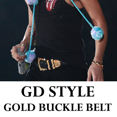 BIGBANG WORLD TOUR that belt !!! Ji has worn well with KimuSo buckle quilting belt (gold quilting belt)