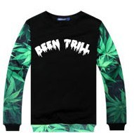 ★★SALE★★B BEENTRILLst. Marijuana print trainer popular street fashion
