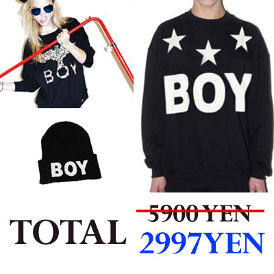 ★ BOY LONDON large SALE ★ popular trainer two   popular knit hat one = 3 points whopping 5,900 yen !!! now is the combined price a chance !!!