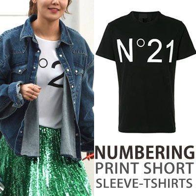 JiChangWook SNSD Yoona SooYoung st. NUMBERING 21 PRINT SHORT SLEEVE T-SHIRTS