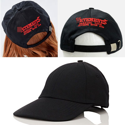 RED BACK LOGO BLACK BALL CAP
