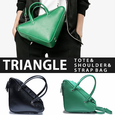 TRIANGLE TOTE&SHOULDER&STRAP BAG