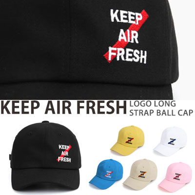 KEEP AIR FRESH LOGO LONG STRAP BALL CAP
