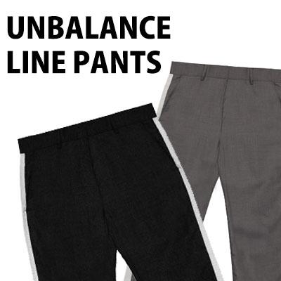 UNBALANCE TAPE LINE PANTS(BLACK/GREY)
