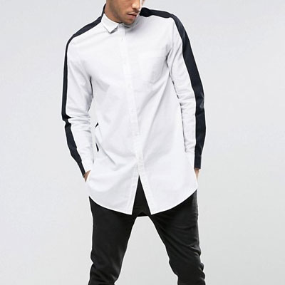 2TONE WHITE & BACK COLOR SHIRTS