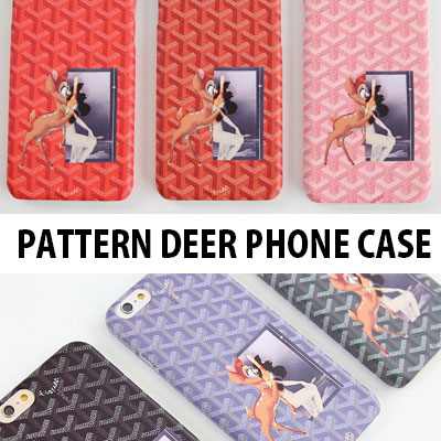LOGO PATTERN DEER PHONE CASE(iPHONE/GALAXY)/6COLORS