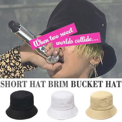 BIGBANG GD/g-dragon st. SHORT HAT BRIM BUCKET HAT/3COLORS