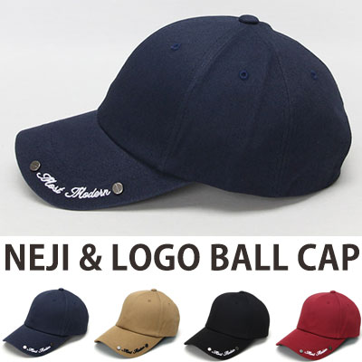 NEJI & LOGO BALL CAP/4COLOR
