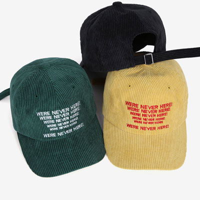 EMBROIDERY LOGO CORDUROY BALL CAP/7colors