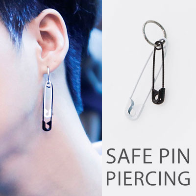 ICON st.[1ea]BLACK&WHITE SAFE PIN PIERCING