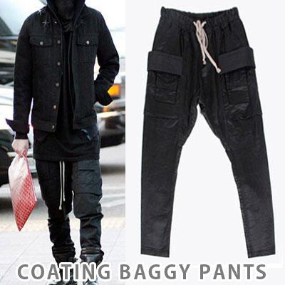 [unisex]BIGBANG GD/g-dragon 2NE1 st. COATING BAGGY PANTS(2size)