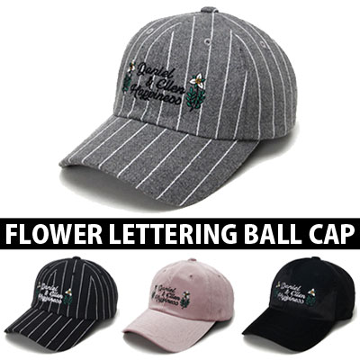 [unisex]FLOWER LETTERING BALL CAP(4color)