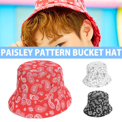 [UNISEX] WANNA ONE PARK JIHOON st.PAISLEY PATTERN BUCKET HAT(3color)
