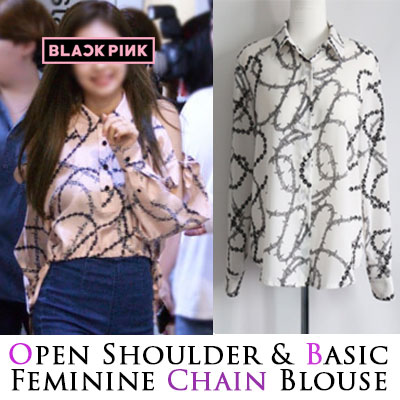 BLACK PINK Jennie st. CHAIN BLOUSE(2type)