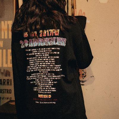 【2XADRENALINE】Back Printing Long Sleeve T- Shirt / Black