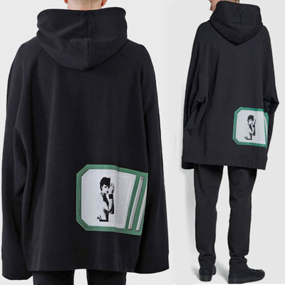 [UNISEX] BACK PHOTO CUT OVERSIZE PULLOVER HOODIE(2color)