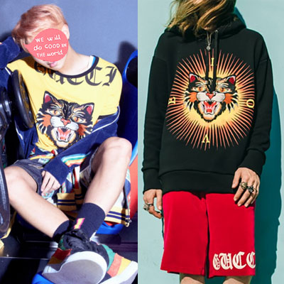 [UNISEX] BTS st. ANGLY CAT PRINT OVERSIZE PULLOVER HOODIE