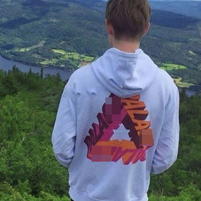 [UNISEX] BIG TRIANGLE BACK LOGO PULL OVER HOODIE(2color)