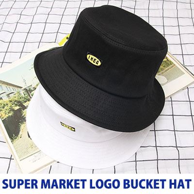 [UNISEX] SUPERMARKET LOGO BUCKET HAT(2color)