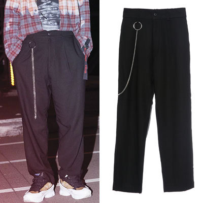 [UNISEX]B1A4 st/k-pop idol/UNIQUE RING & CHAIN SLACKS(M,L)