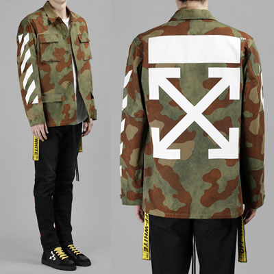 [UNISEX] YELLOW WAVING CAMO JACKET(2size)