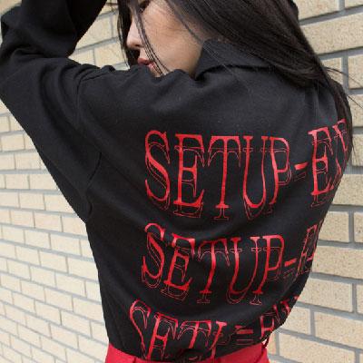 [SETUP-EXE]Zipper Setup T-shirt - RED