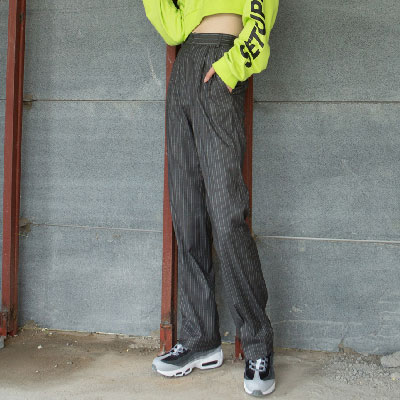 [SETUP-EXE]UnisexStriped Pants - Gray