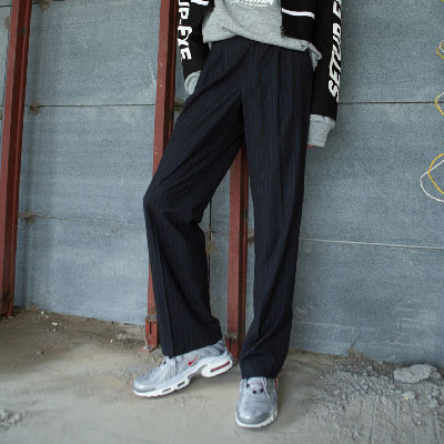 [SETUP-EXE]UnisexStriped Pants - Black