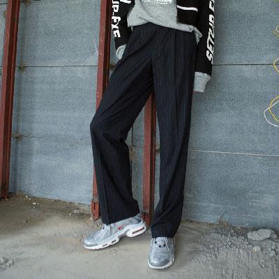 [SETUP-EXE]UnisexStriped Pants - Black