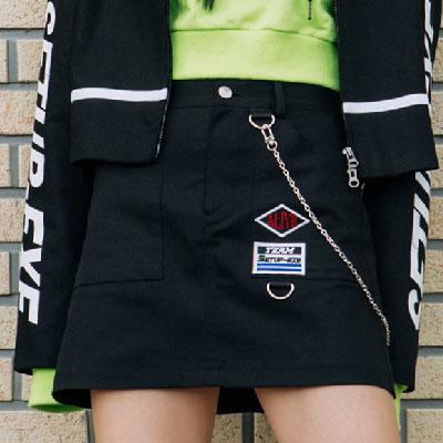 [SETUP-EXE]Chain Skirt - Black
