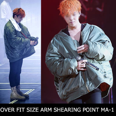 [RE-STOCK]BIGBANG [MADE] at the time of tour G-DRAGON STYLE!OVER FIT SIZE ARM SHEARING POINT MA-1