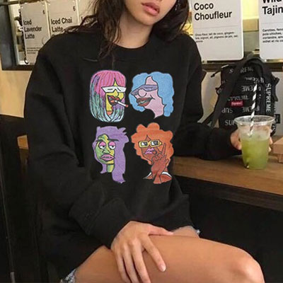 [UNISEX] RAINBOW HAIR CHARACTER SWEATSHIRTS(3color)