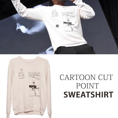 [UNISEX] CARTOON CUT POINT SWEATSHIRTS(2color)