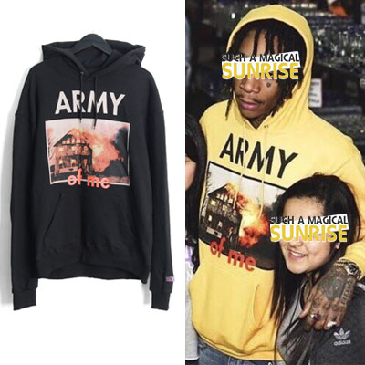 [UNISEX] FIRE HOUSE & ARMY LOGO PULLOVER HOODIE(2color)