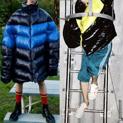 G-DRAGON/[RIRI ZIPPER] V LINE COLOR BLOCK DOWN LONG JACKET