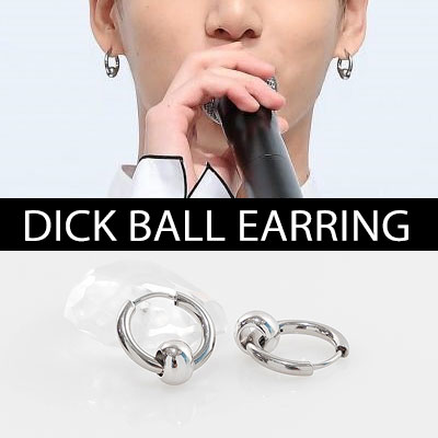 [UNISEX] BTS st.KOOKIE DICK BALL EARRING(3type)