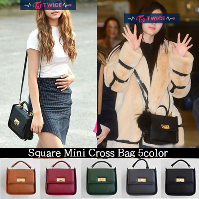 TWICE TZUYU SANA st.SQUARE MINI CROSS BAG(5color)
