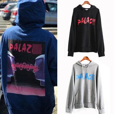 [UNISEX] LAZER BACK PRINT PULLOVER HOODIE(2color)