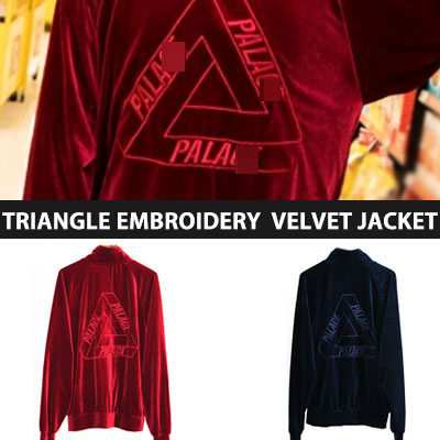 [UNISEX] TRIANGLE EMBROIDERY VELVET JACKET(2color)