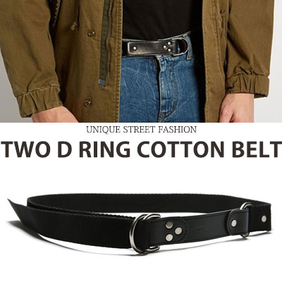 TWO D RING COTTON BELT
