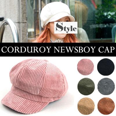 [UNISEX] Hyun-A style.CORDUROY NEWSBOY CAP(6color)