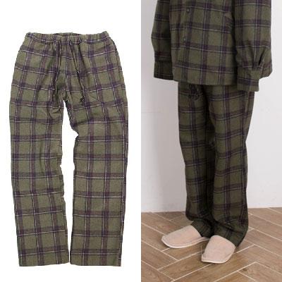 【2XADRENALINE】Set-up Check Pants  - KHAKI