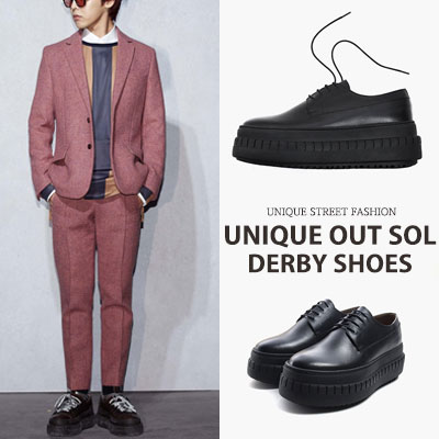[24.5cm~28.0cm] G-DRAGON,BOBBY,NAM TAEYUN ST. UNIQUE OUT SOL DERBY SHOES
