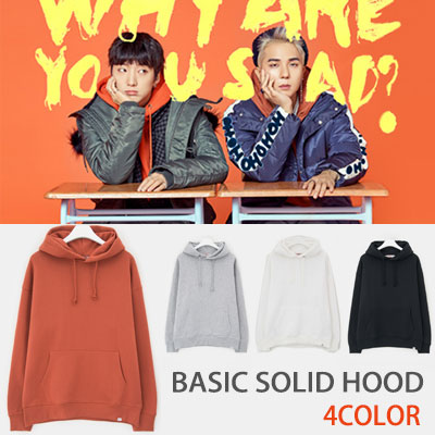 [8seconds] WINNER MINHO STYLE!OVERSIZE FLEECE HOODIE PULLOVER(WHITE,BLACK,GREY,BRIC)