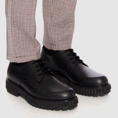 [24.5~28.5cm] real cow skin OUTSOL STUD POINT DERBY SHOES