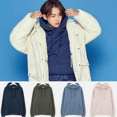 [8seconds] [2弾]WINNER MINHO STYLE!OVERSIZE FLEECE HOODIE PULLOVER(KHAKI,ROYAL BLUE,SKY BLUE,LIGHT PINK)