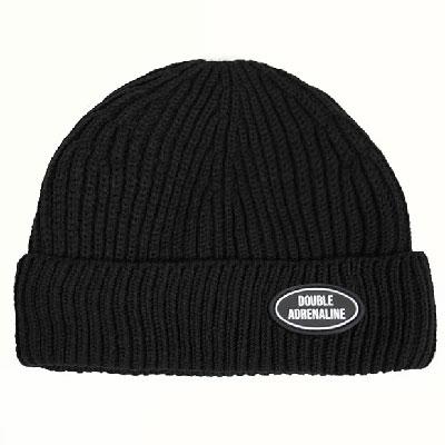 【2XADRENALINE】Knit Logo Beanie/BLACK