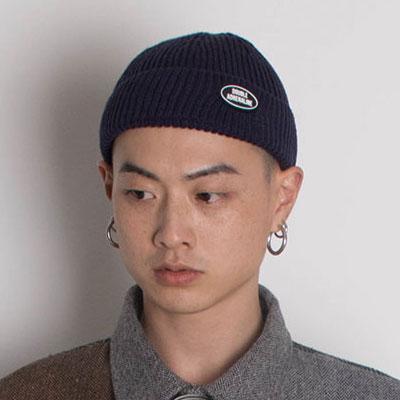 【2XADRENALINE】Knit Logo Beanie/NAVY